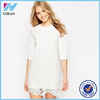 Elegant Women Clothing Summer Sexy Lady Dress Wholesale Customize fashion Lady White Lace Dress