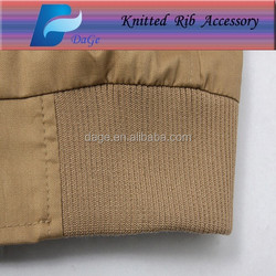Factory price good quality cotton / polyester dyed knitting flat rib