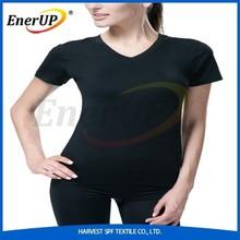 women stretch compression T-shirts