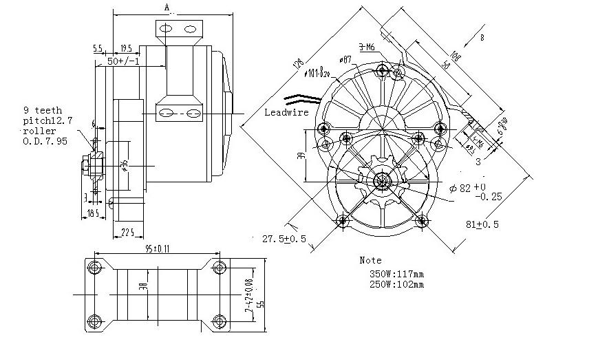 36 v dc gear motor  motor del cepillo de cc  motor