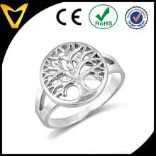 Sterling Silver Tarnish-Free Open Tree Of Life Ring custom design life tree finger ring