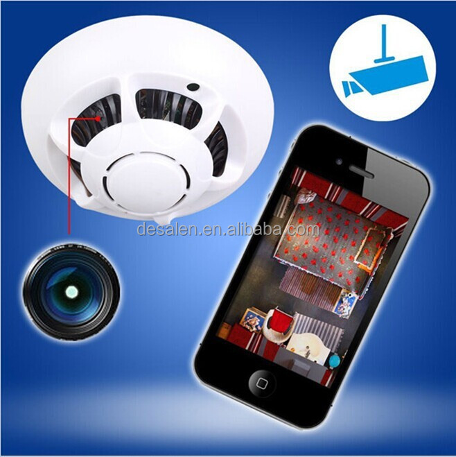 smoke detector ufo spy wifi wireless ip hidden camera cam dvr video recorder p2p for iphone ipad. Black Bedroom Furniture Sets. Home Design Ideas
