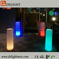 Any Size Plastic PE RGB Color Changing Led Pillar/ Led Pillar Light/ Wedding Mandap