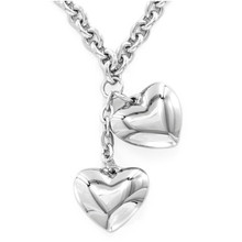 Yiwu Aceon Stainless Steel Dangling Hearts Necklace Pendent