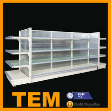Modern Style Glass Shelving Retail Store Unit For Display