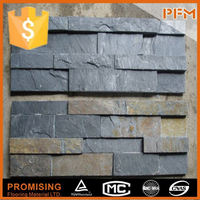 wall coverings of decorative smoke proof rusty slate natural stone facade cladding