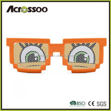 Custom Pinhole Pixel Sunglasses orange 8 Bit Sunglasses