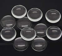 Ships worldwide from China // Material: glass 40mm Round Glass Cabochon _ wholesale Clear Large Glass Cabochon
