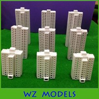 3pcs/set new popular ABS plastic material model apartment with glass inside for building design