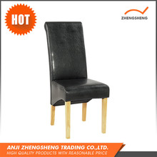 Modern Design black leather shape dining chair