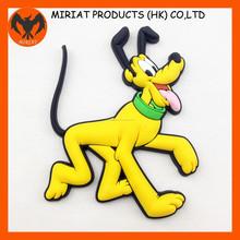 Forma cão emborrachado imã de geladeira