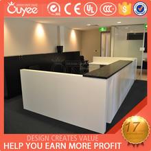 Club & Office reception desk for 2 person / 2 person reception desk / reception counter design