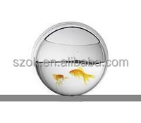Small round clear acrylic fish tank for promotion