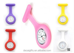 Wholesale top quality Japan movement silicone nurse watch, silicone pocket watch for nurse