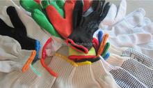 working latex coated gloves many sizes