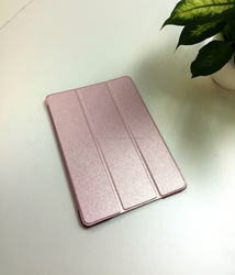 HIgh quality flip folding perfect touch PC back ultra-thin leather case for Ipad mini
