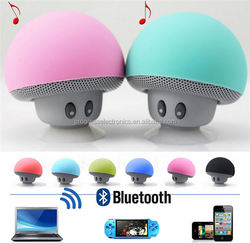 2015 Mini Bluetooth Speaker MS01 Mushroom Style with Mic Suction Cup Stereo Subwoofer Bluetooth speaker Mini Portable Speakers