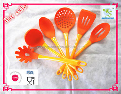 silicone covered nylon with plastic handle silicone cooking tools