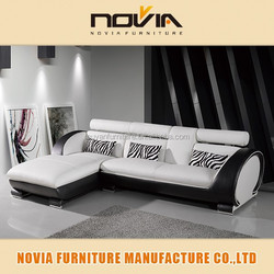 2015 zhejiang ultra modern sofa with zebra cushion 110B