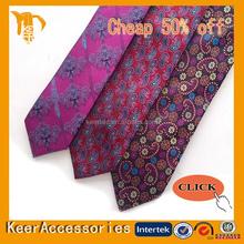 Handmade silk woven neck tie