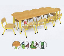 High Quality Wooden Children Study Classroom Desk and Chair