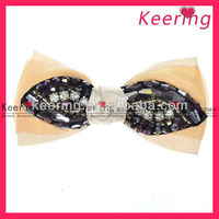 Elegant Boutique styles wholesale Diamond Ribbon Hair Bows with clip -WSF-338