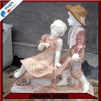 garden decoration stone playing children statue