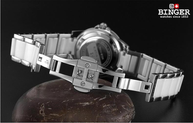 Горячая Моды Наручные Часы Керамические Печатных Цветок Золото Повседневная Часы Для Дам Кварцевые Часы Женщины Одеваются Бингер Часы NewPromotions