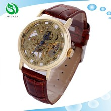 Good Price Transparent Skeleton Mens Automatic Mechanical Watch