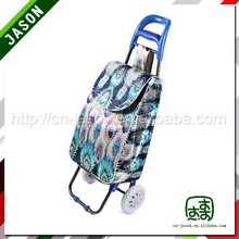 folding shopping trolley cart flower print gift shopping bag