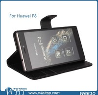 Premium Flip Stand Cover Slim Leather Case with Credit Card Holder for Huawei P8