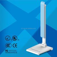 Modern stylish pure white light adjustable dimmable LED desk lamp