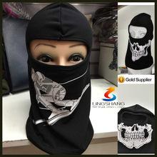 NINGBO lingshang polyester neck warmer winter hat skull ski face mask