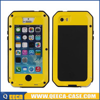 Heavy duty phone cases for iphone 5c gorilla glass metal case
