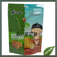 Stand up Food Ziplock Bag For Dry Nuts With Standing Up Package