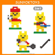 Educational Toys Kindergarten 177pcs 3 In 1 Mini Cartoon Figures Model 3D Puzzle Blocks