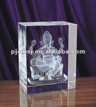 2015 Engraving Crystal Block 3D Crystal Cube For Indian Gifts