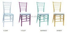 Factory Direct One-piece Desin Resin Clear Tiffany Chair Resin Tiffany Chair Resin Chiavari Chair