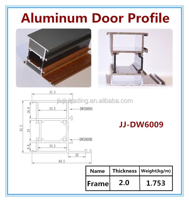 Cross Sections Of Aluminum Glass Door Frame Parts Buy Aluminum