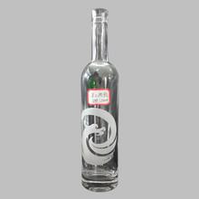 500ml Hot sale customized design logo decal liquor glass bottle for vodka wine water