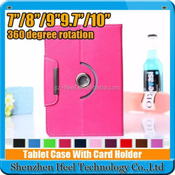 360 Degree Rotation New PU Leather Smart Case Cover Stand fit for 6,7,8,9,10,11 inch tablet size