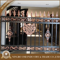 Professional mould design Aluminum handrails for staircase indoor/outdoor stair railing balcony steel hand balustrades