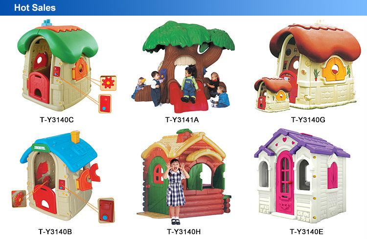 2015 el ltimo dise o de pl stico casa de juegos para for Casas de plastico para jardin