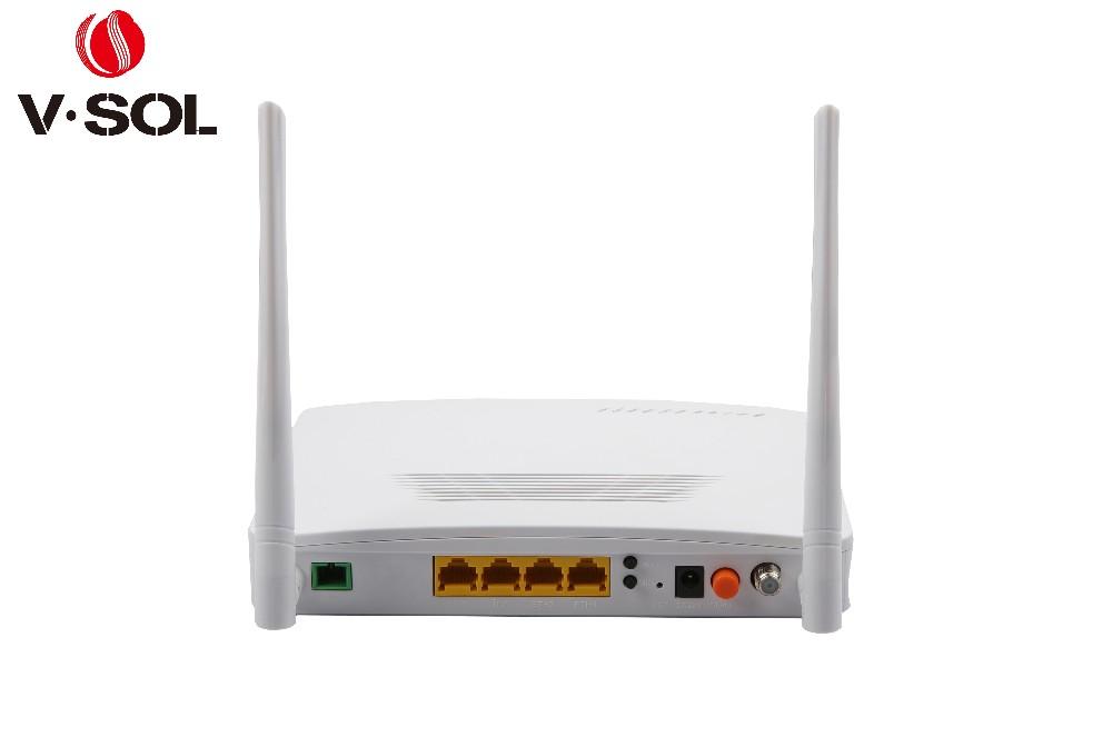 GPON ONT fiber optique réseau 4GE + WIFI + RF (CATV) 4 ports Layer3