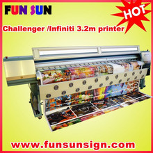 Challenger/infiniti FY3208H 3.2m digital flex printing machine ( 8 SPT510/35pl head ,high quality