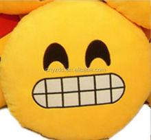 Amarillo emoji almohada muestra libre / barato emoji almohada para sale / 1.0 dollar emoji almohada para 13 pulgadas