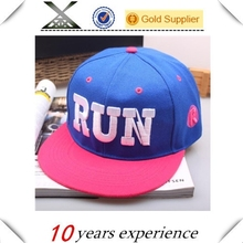 Fashion custom 3d embroidery two tone 6 panel snapback cap