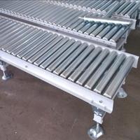 2-meter-long standard steel roller conveyor