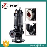 WQ Series Submersible Sewage Centrifuge Water Pump With Flange Connection