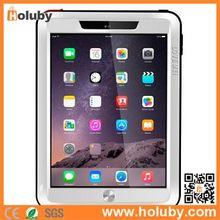 LOVE MEI Powerful Waterproof Case for iPad Air 2, Metal+Aluminium+Gorilla Glass Hybrid Shockproof Case for Apple iPad Air 2
